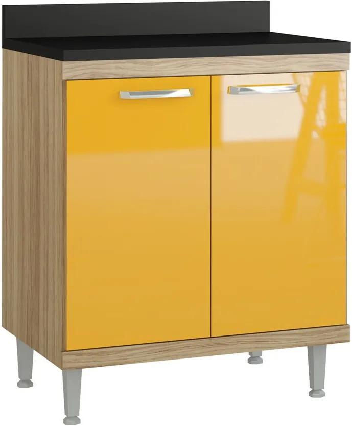 Armário de Cozinha 5122 Cx Argila Fosco Lacca Amarelo Gema - Multimóveis