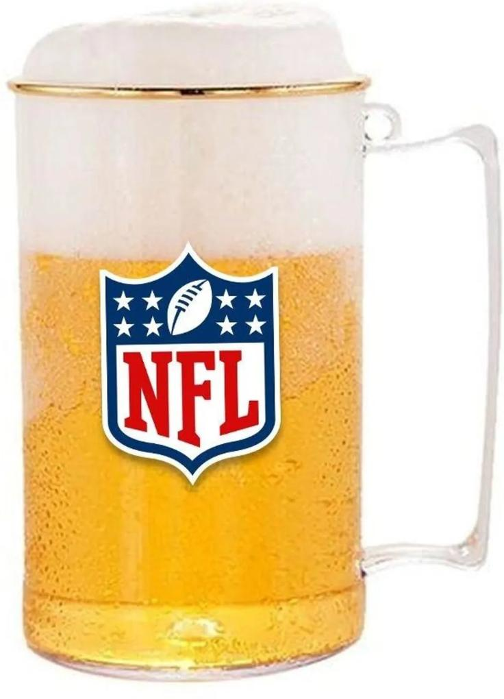 Caneca de Choop Futebol Americano Acrílico 500ml - NFL