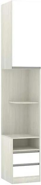Mesa de Cabeceira Prime 1 Porta 2 Gavetas LD 40cm Legno Crema Branco
