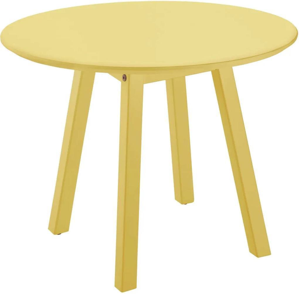 Mesa Lateral Oval Media Amarelo Tramontina