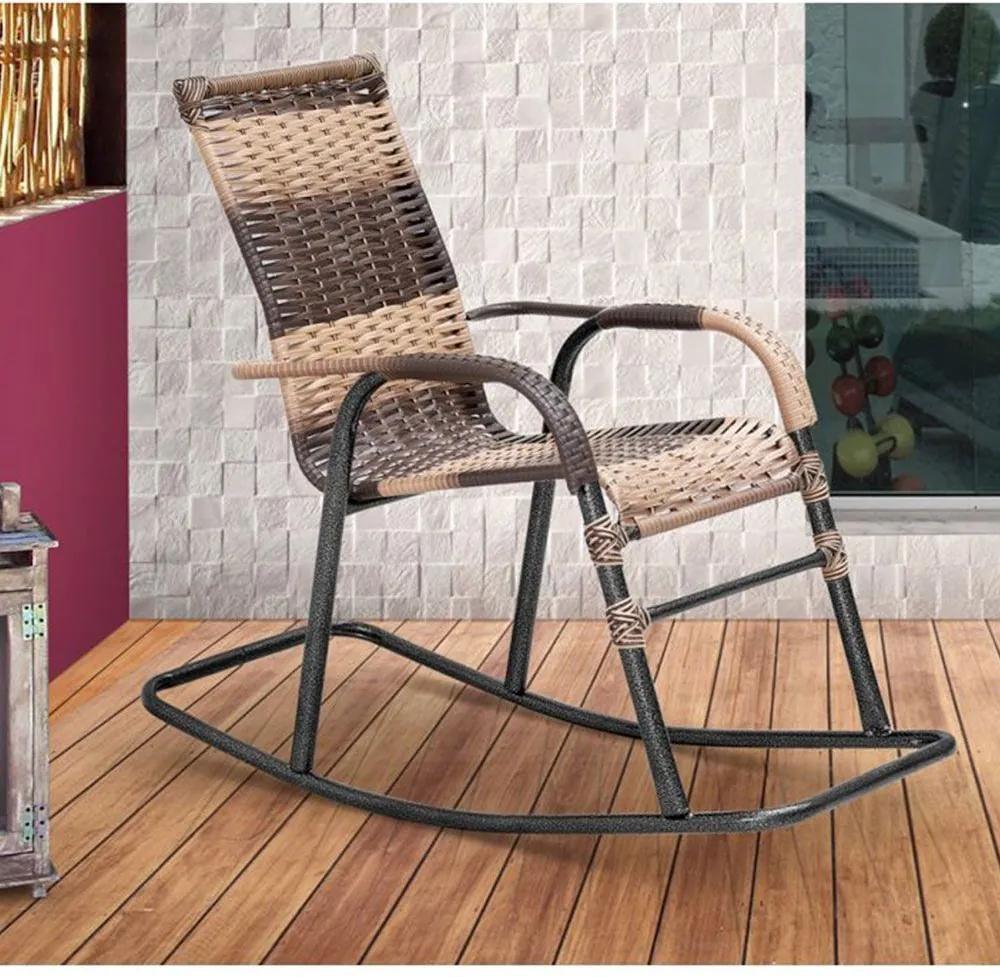 Cadeira de Balanço em Junco Sintético Área Varanda Bela - MegaSul