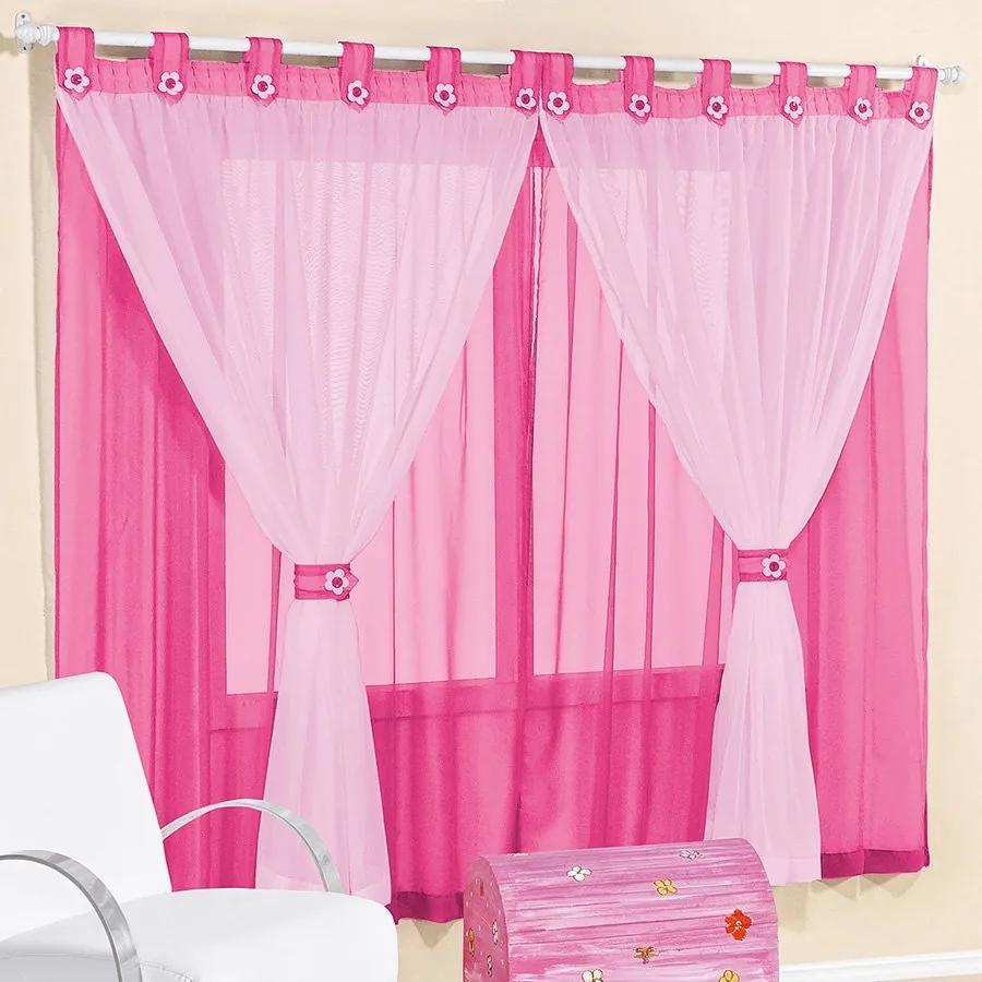 Cortina Clássica Pink 3,00m x 2,80m