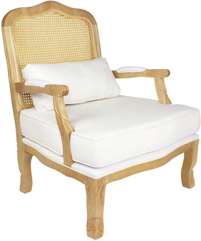 Poltrona King Amêndoa Fosco Palha - Wood Prime PTE 38468