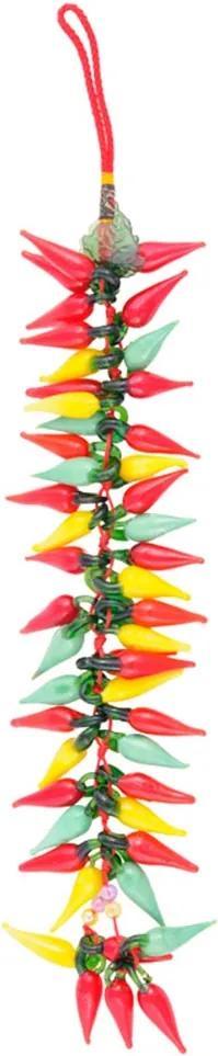Adorno Decorativo Pimenta Colorida - 25x6 cm