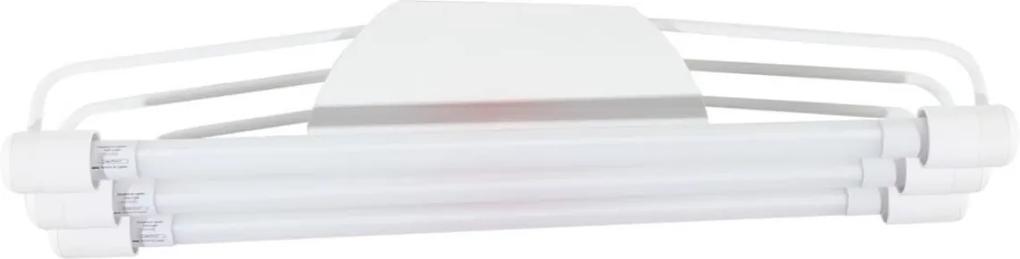 Plafon Led Sobrepor Tubular Triplo Acrilico Luz Branca 6500k