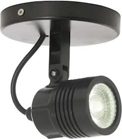 Spot Direcionável Abs Preto Led 6W Ip65