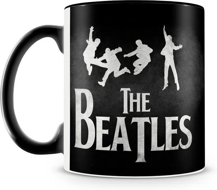 Caneca Personalizada The Beatles (Preta)