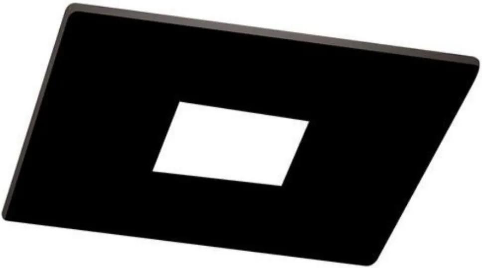 Plafon Embutir Aluminio Preto 6,3cm