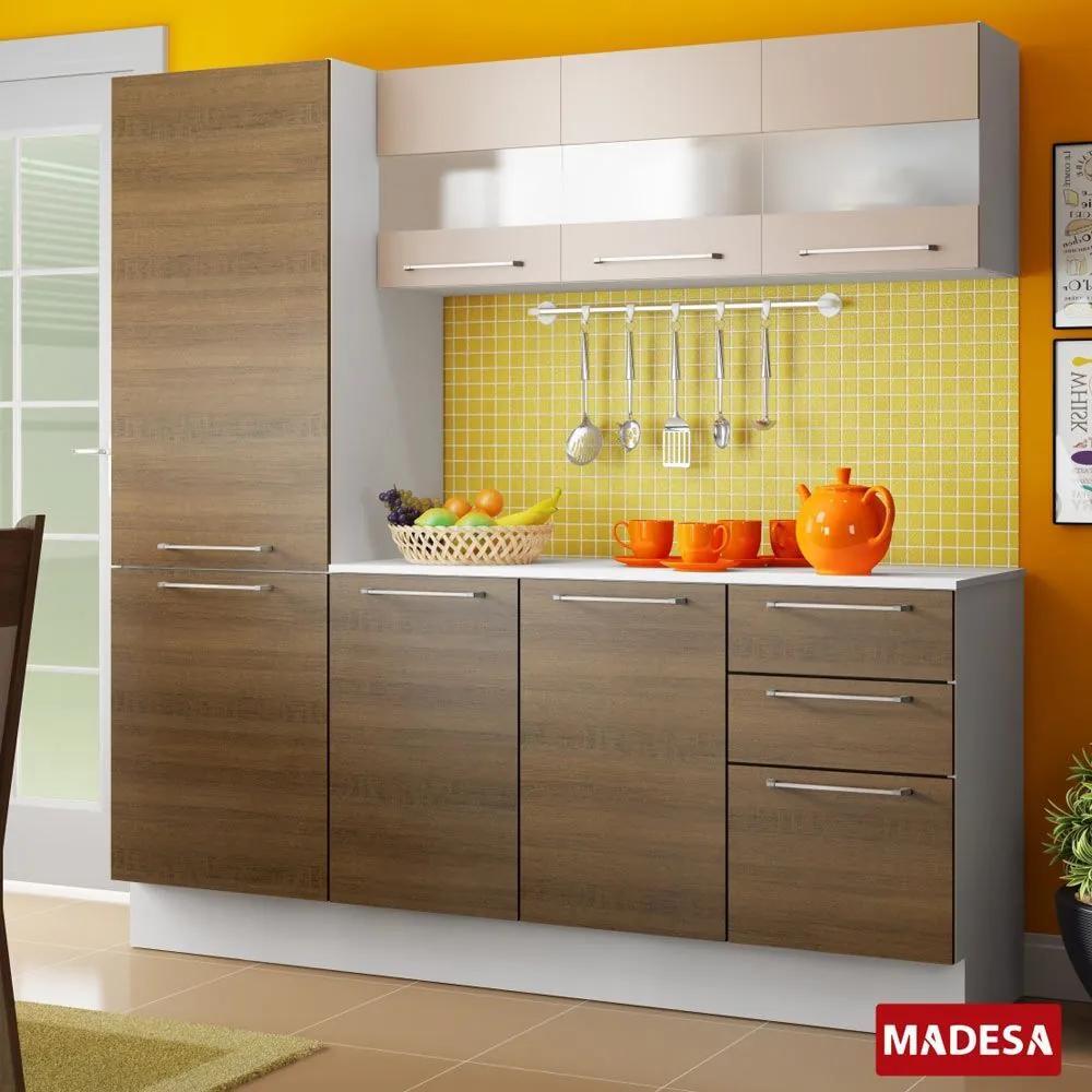 Cozinha Compacta 7 Portas Lara G200697gmm Rustic - Madesa