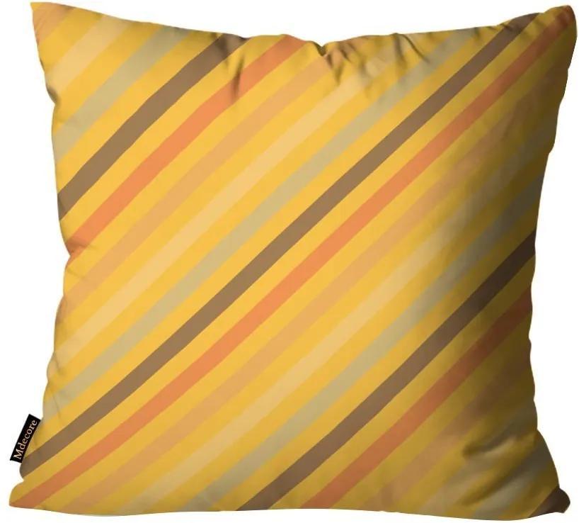 Capa para Almofada de Páscoa Listrada Amarelo45x45cm