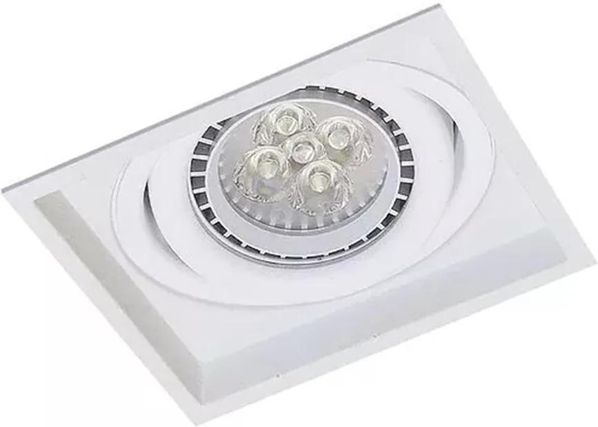 Embutido Quadrado Recuado Direcional para PAR20 Branco E27 - Impacto - 1011