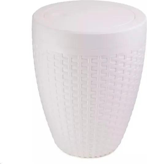 Cesto Rattan Branco 7,5 Litros - Stamplas - Stamplas