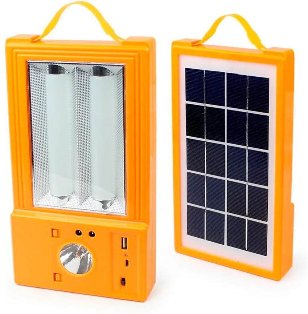 Painel Solar Multiuso Holofote Lanterna Luminária PowerBank Camping Pescaria Thata Esportes