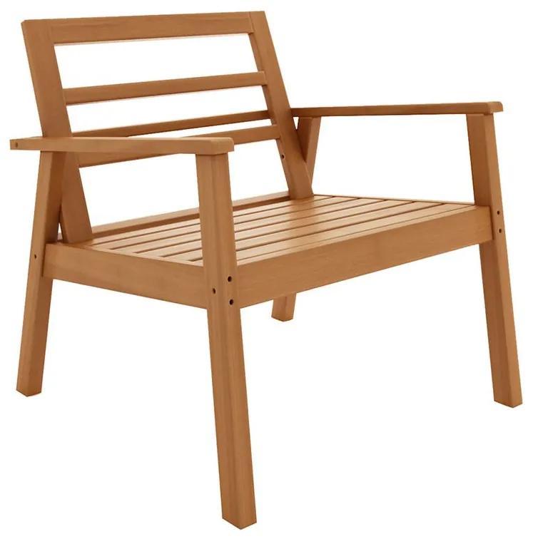 Poltrona com Braços Quarter - Wood Prime MR 34627
