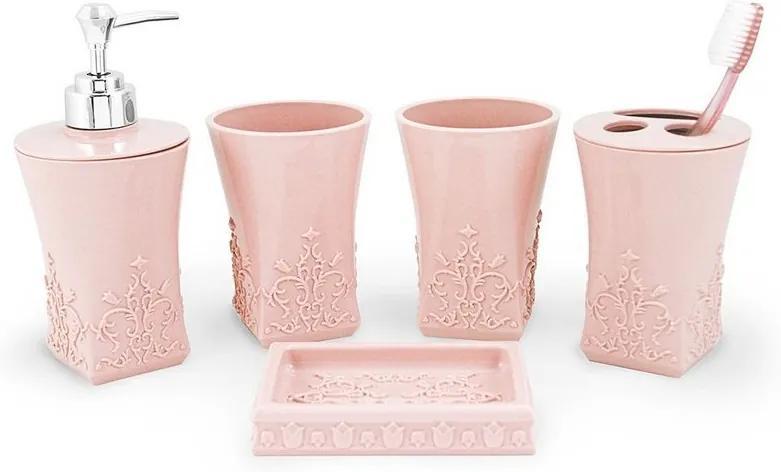 Kit de Banheiro Lifestyle - 5 Peças - Rosa - Jack Design
