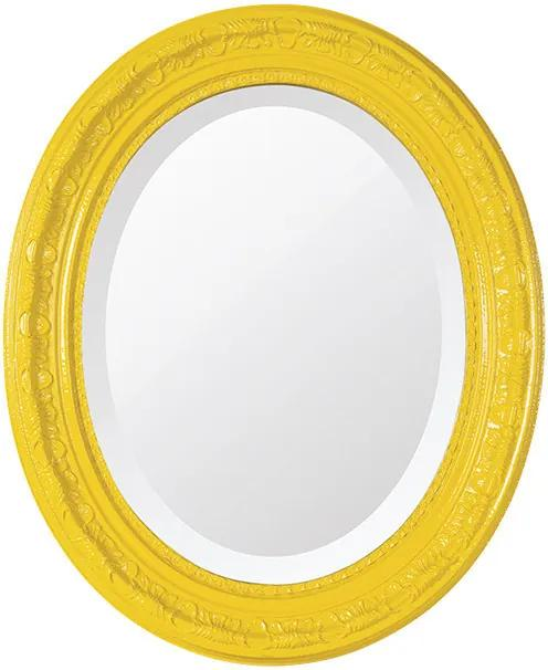 Espelho Oval Bisotê Amarelo Happy Médio