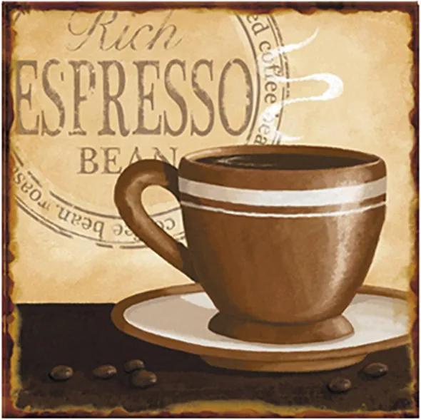 Placa de Metal Espresso