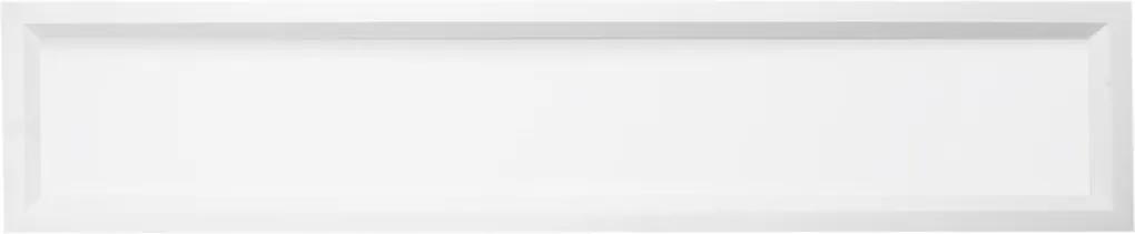 Plafon Led Embutir Retangular 16w Branco Luz Amarela