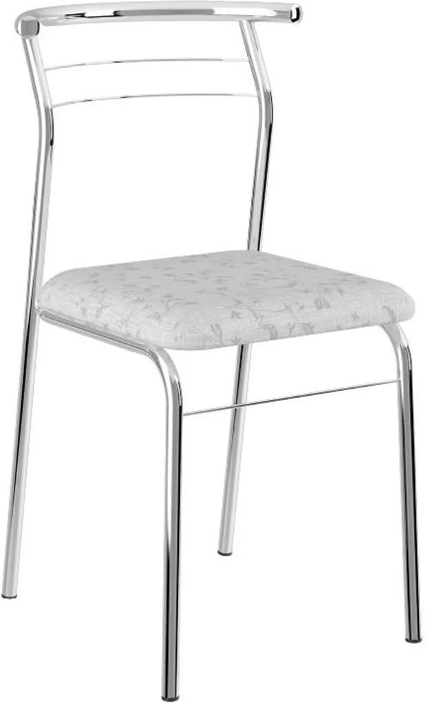 Cadeira Tubo Cromado Tecil Branco Carraro