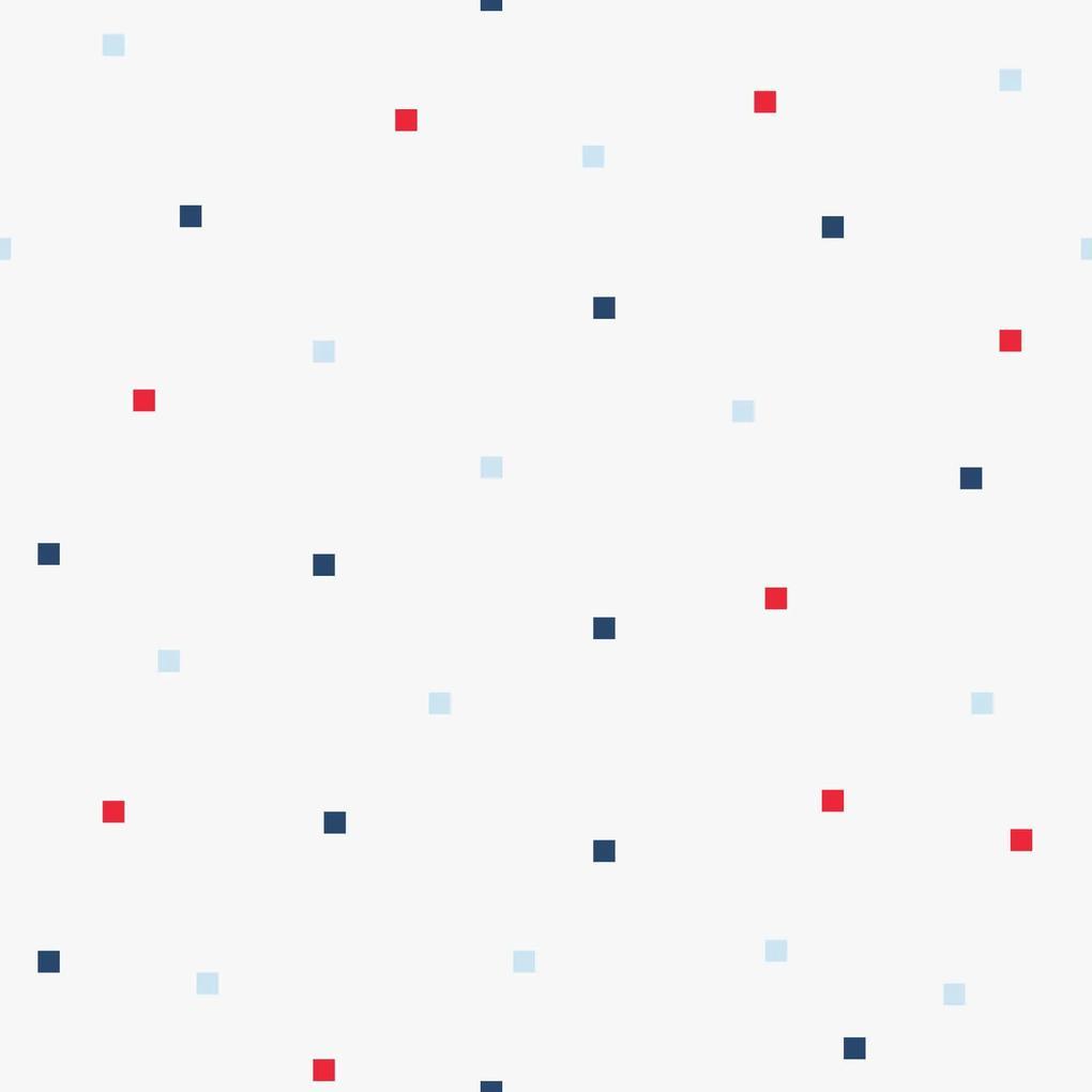 Papel de Parede Quadradinhos Coloridos Infantil 2,70x0,57m