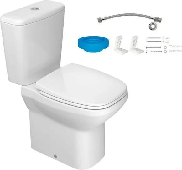 Kit Bacia com Caixa Acoplada e Assento Flex Branco + Conjunto de Fixação Flexível e Anel de Vedação - KP.380.17 - Deca - Deca