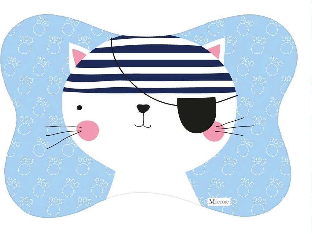Tapete PET Mdecore Osso Gato Azul 54x39cm