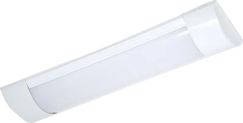 Plafon Led Sobrepor Branco Retangular 9w Luz Amarela 3000k