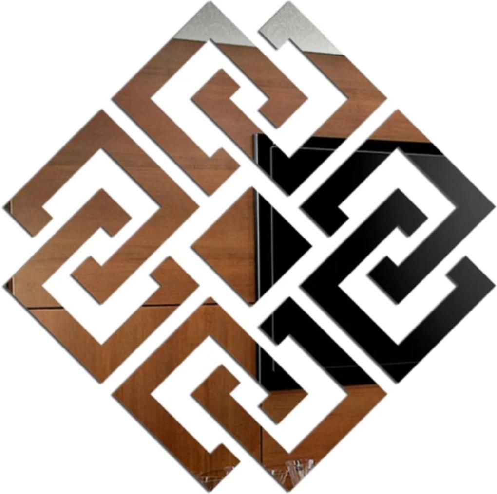 Espelho Love Decor Decorativo Losangolo Abstrato Único