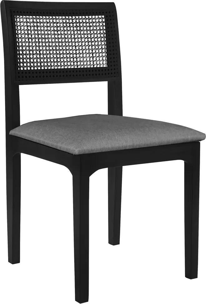 Cadeira Decorativa Sala de Jantar Nivea Ébano - Gran Belo