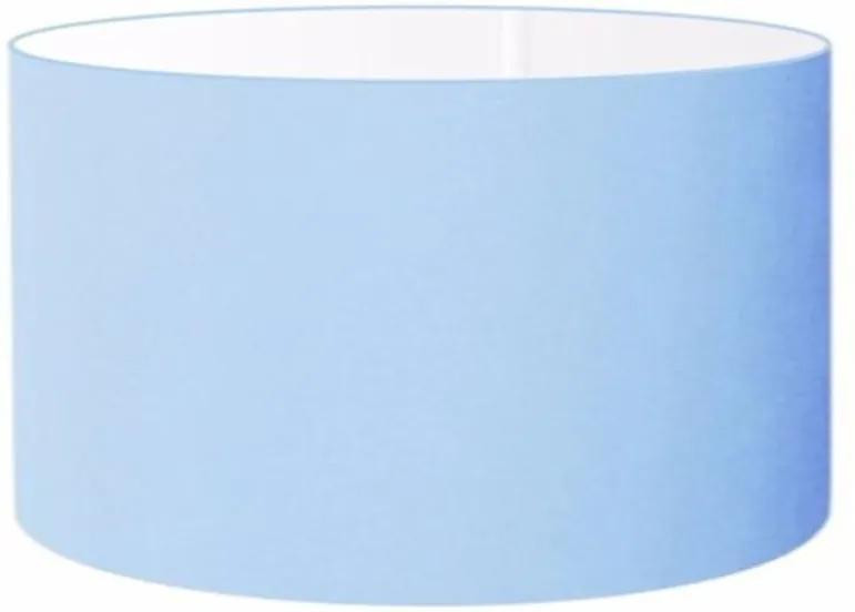 Cúpula Abajur e Luminaria em Tecido Cilíndrica Vivare Cp-8027 Ø55x30cm - Bocal Europeu - Azul Bebê