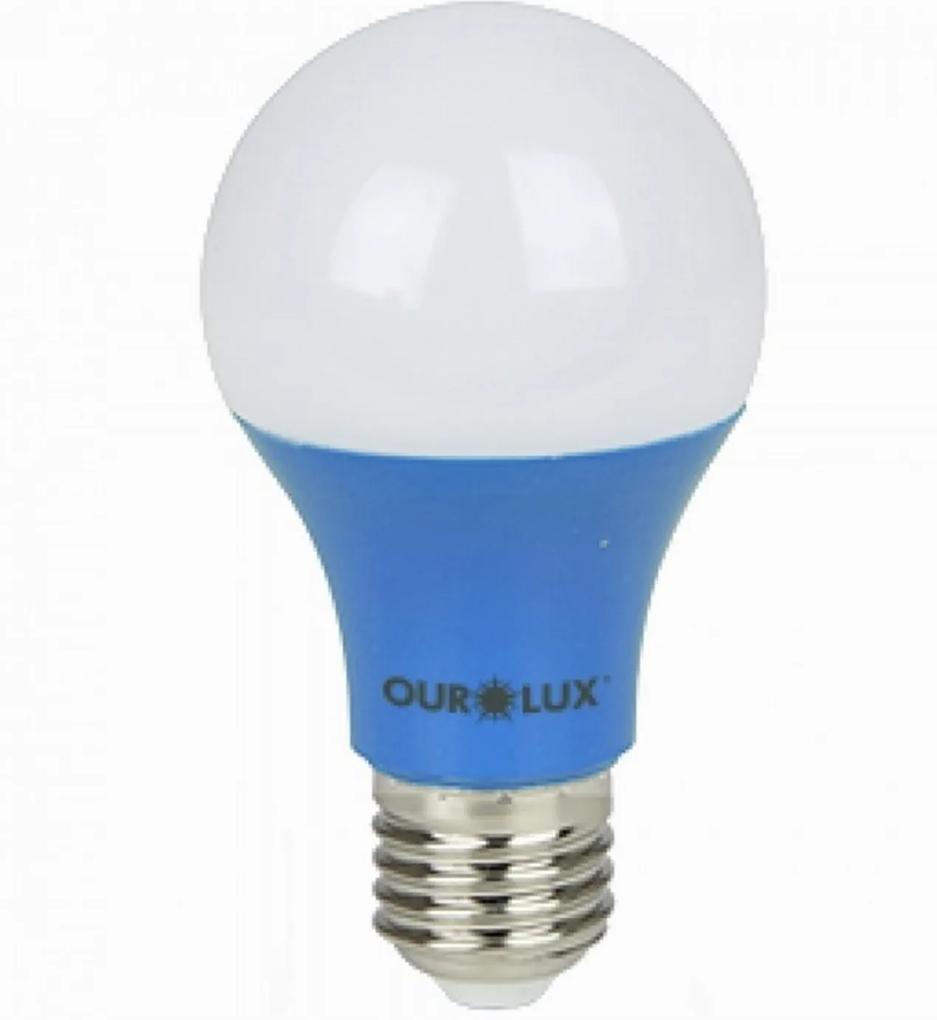 Lâmpada Bolinha Led 7W Azul E-27 Bivolt 05455 Ourolux