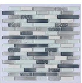 "Pastilha Glass Line Fileto Nevada ""A"" 29,5x29,5 Bold"