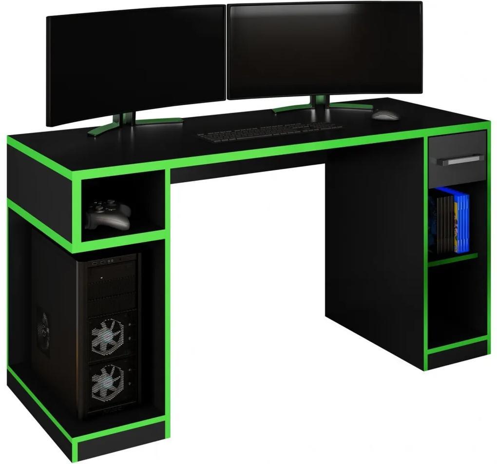 Mesa Gamer IDL XP 1000Pro Black Verde - Germai Móveis