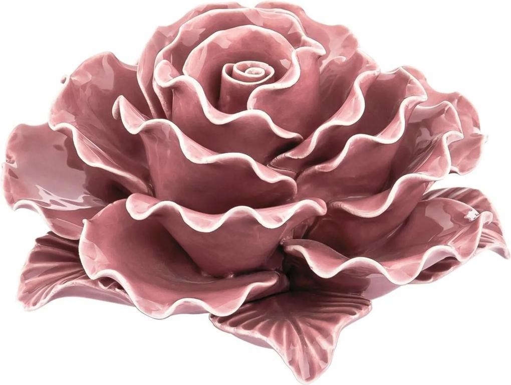 Flor em Cerâmica Rosa