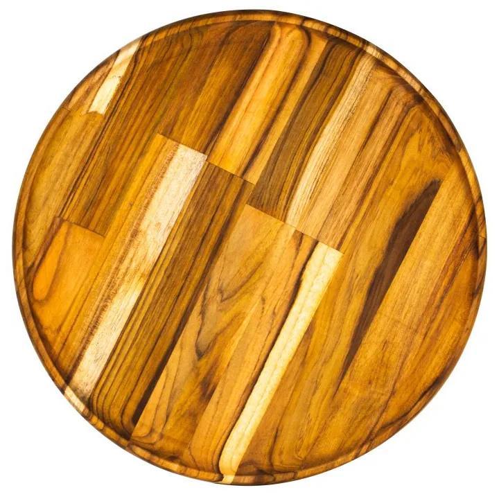 Bandeja Madeira Teca Redonda 40x2cm 13159 Woodart