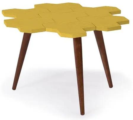 Mesa de Centro Colmeia C/ Favos Cacau/Amarelo -18202 Sun House