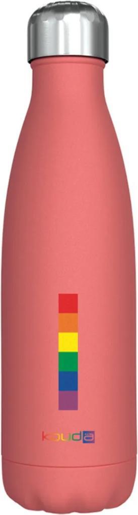 Garrafa Kouda 500ml 10373 Coral PC Love Wins