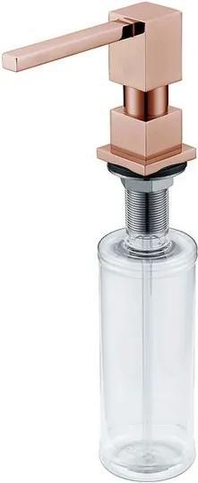 Dosador de Sabão Líquido Rose Gold 350ml - DeBacco - DeBacco