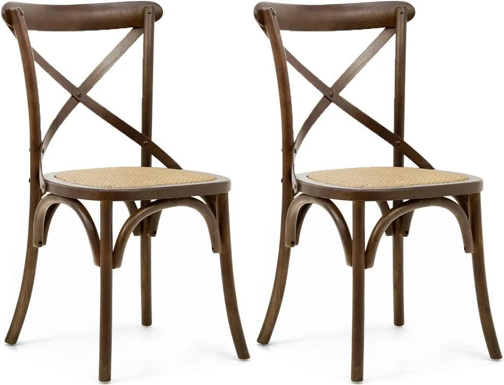 Kit 02 Cadeiras Para Sala de Jantar Cozinha Blair Canela - Gran Belo