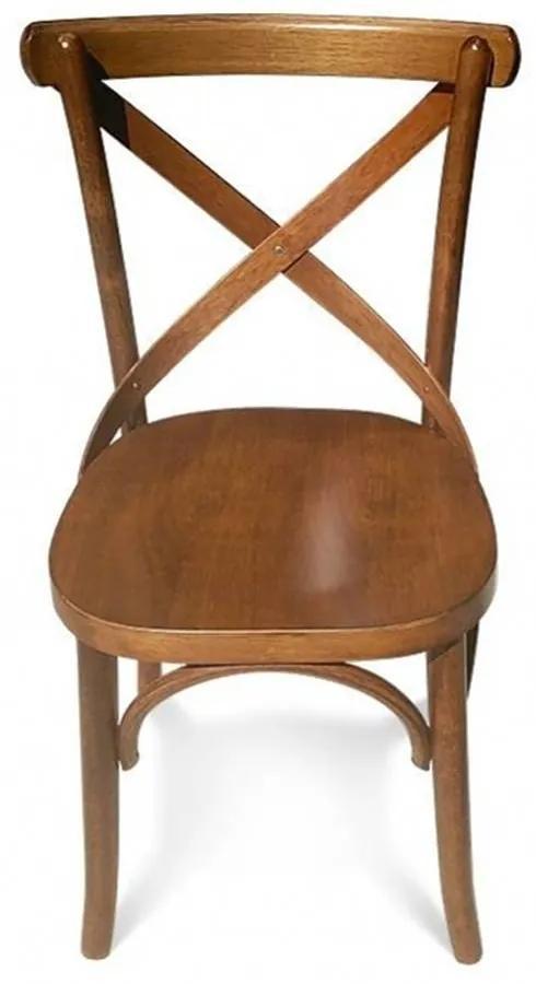 Cadeira X Madeira Maciça Design Retrô