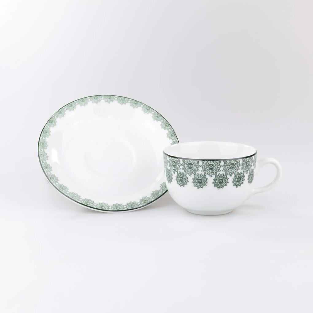 Conjunto de Xícaras para Café c/ Pires Porcelana Schmidt 06 Peças - Dec. Taís