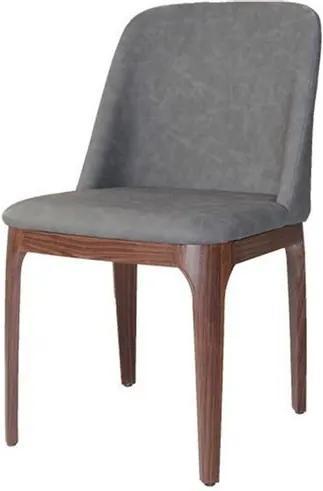 Cadeira Versailes Courissimo Cinza Base Madeira Escura - 59542 Sun House