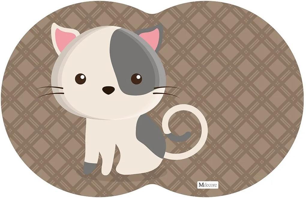 Tapete PET Gato Marrom54x39cm