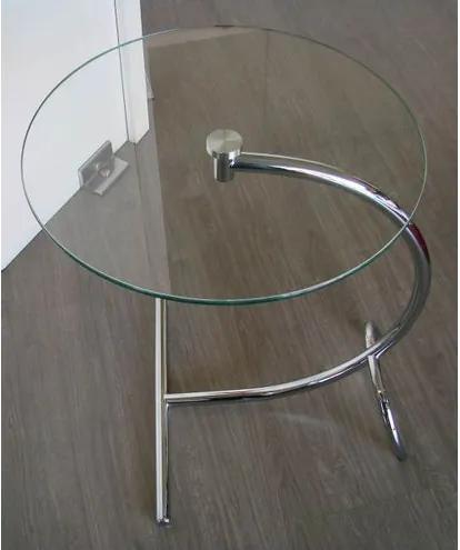 Mesa Auxiliar Arco Glass Vidro Liso Cromada - 3552 Sun House