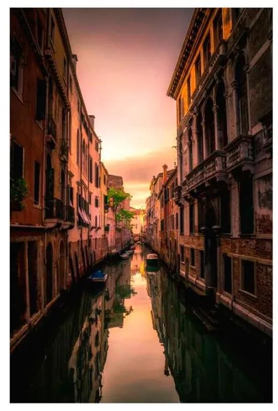Quadro Decorativo Canal de Veneza 2 - KF 49746 40x60 (Moldura 520)