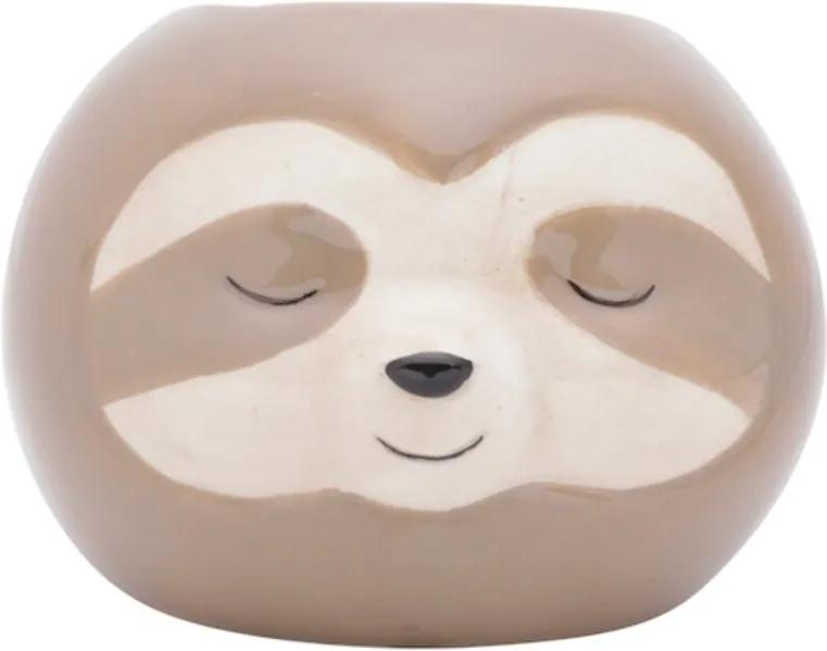 Cachepot Bicho Preguiça em Cerâmica