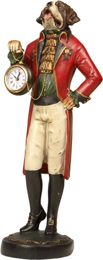 Estatueta Decorativa Relógio Dog