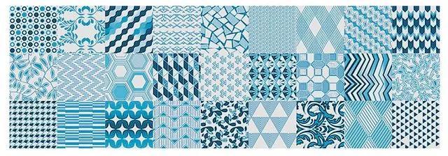 Inserto Alfama Azul Acetinado Retificado 30x90,2cm 61220108 - Incepa - Incepa