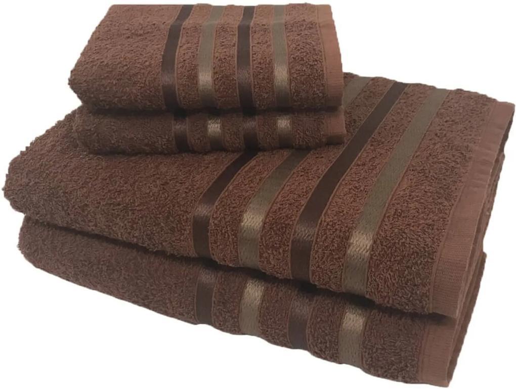 Jogo de Toalha 4 Peças kit de toalhas 2 banho 2 rosto Jogo de Banho Marrom