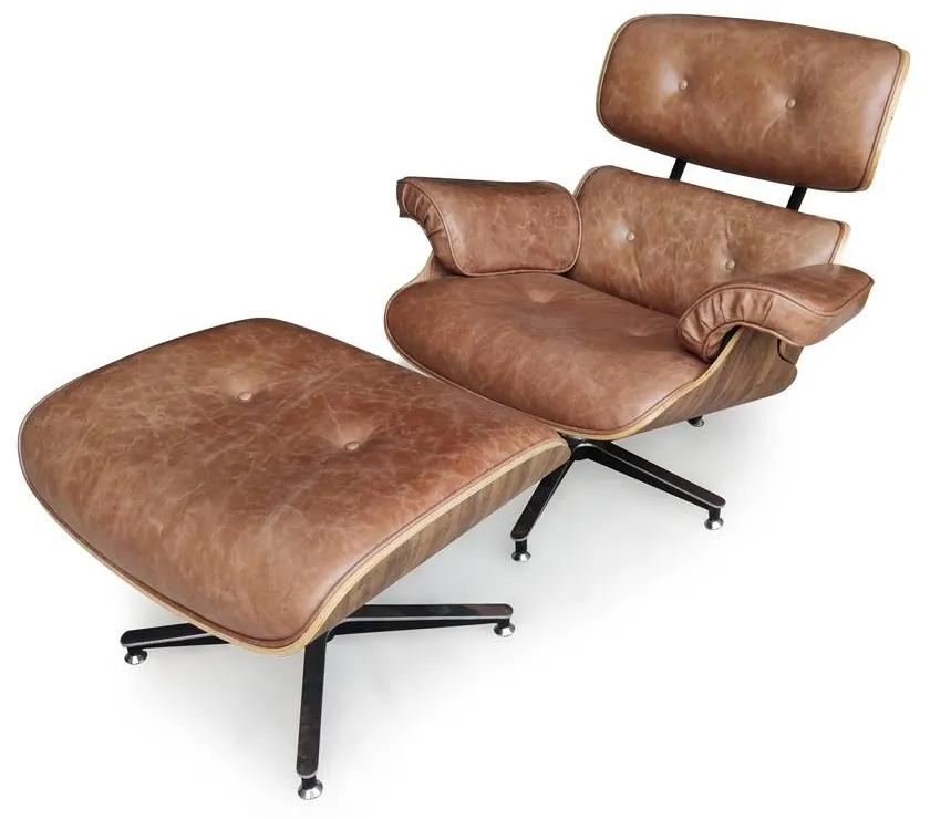 Poltrona Charles Eames com Puff Design by Charles Eames